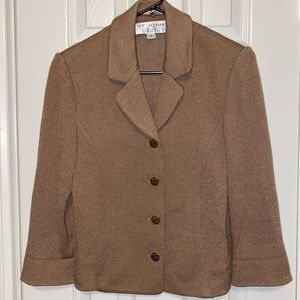 St John Collection by Marie Gray Knit Blazer Skirt